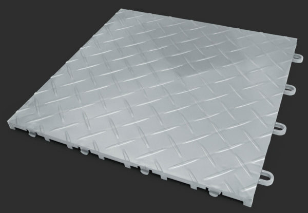 RaceDeck TuffShield garage floor tile in alloy