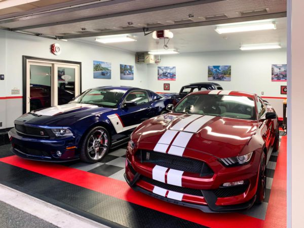 Shelby and Roush mustangs on RaceDeck Diamond.
