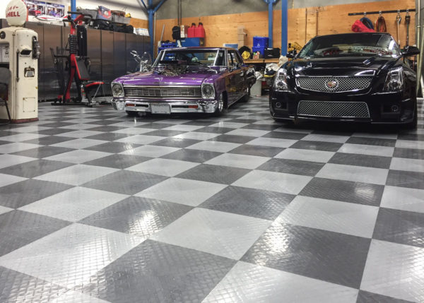 Shop with two Cadillacs and RaceDeck XL