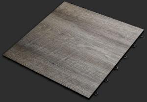 Smoked Oak XL garage flooring tile