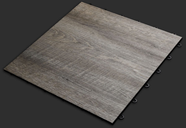 Smoked Oak XL garage flooring tile