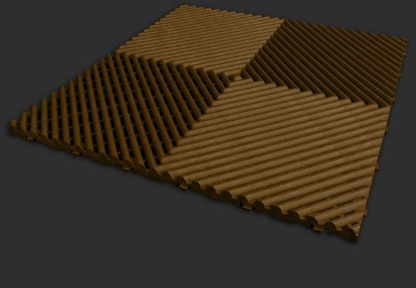 Espresso Free-Flow XLC garage flooring tile